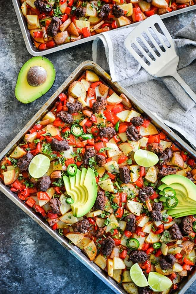 Chorizo Potato Sheet Pan Breakfast