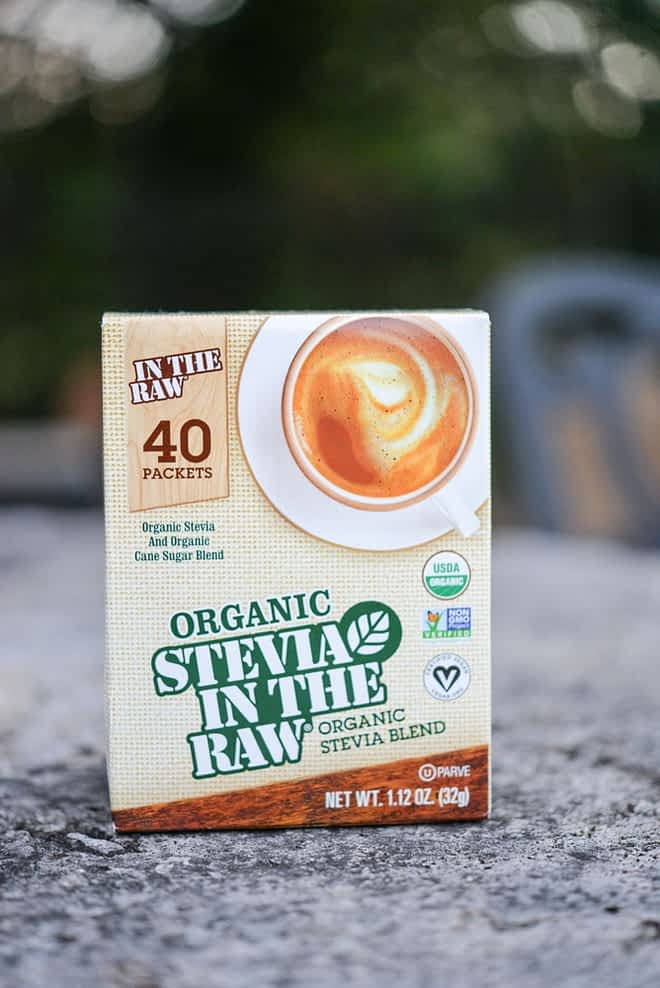 a box of organic stevia in the raw