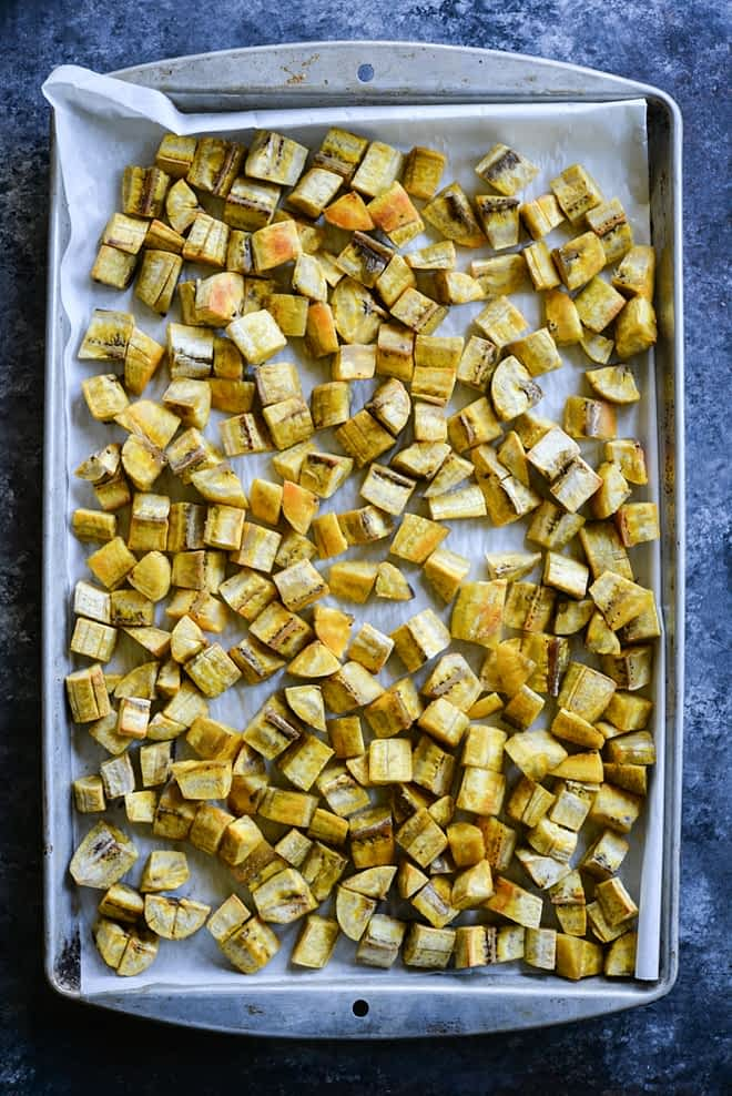 meal prep roasted plantains
