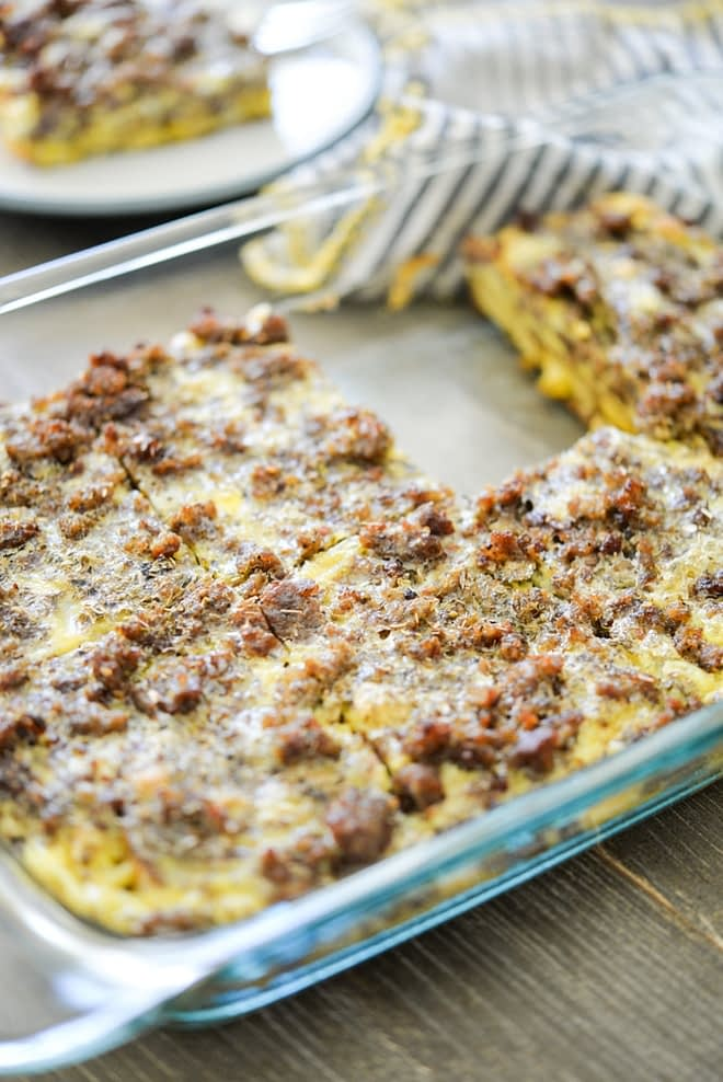 Plantain and Sausage Breakfast Casserole