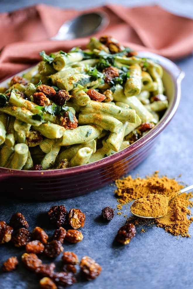Chilled Curried Green Bean Salad is a perfect summer side dish!   Fed & Fit