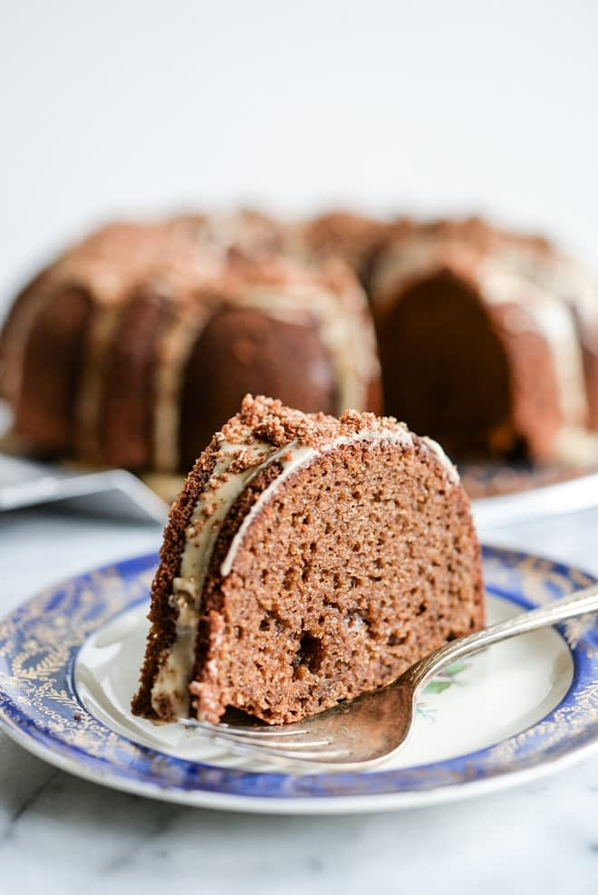 Pumpkin Spice Coffee Bundt Cake with Cold Brew Frosting