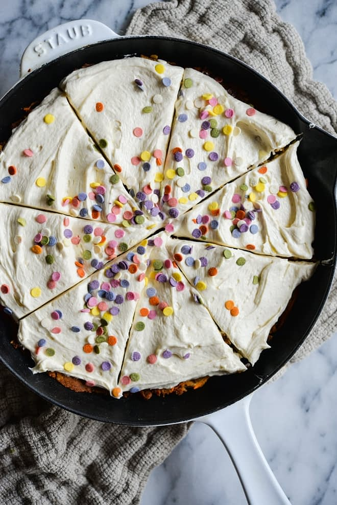 Easter Carrot Cookie Cake