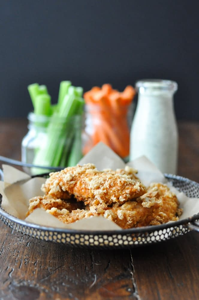 Crispy Buffalo Chicken Fingers | Fed and Fit-25
