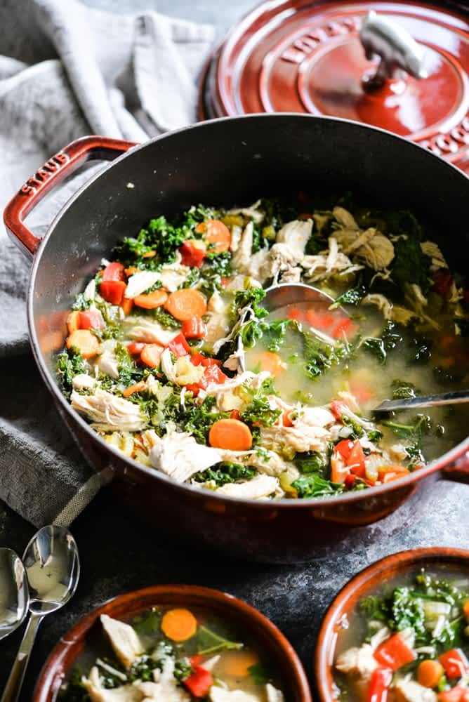 Squeaky Clean Chicken & Veggie Soup