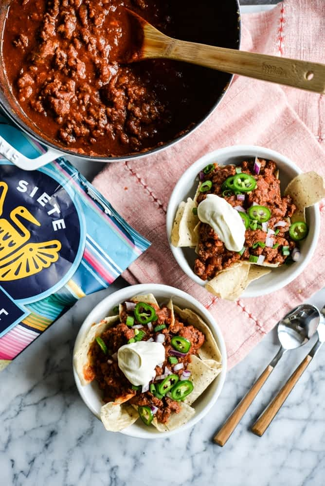 healthy super bowl roundup Frito pie