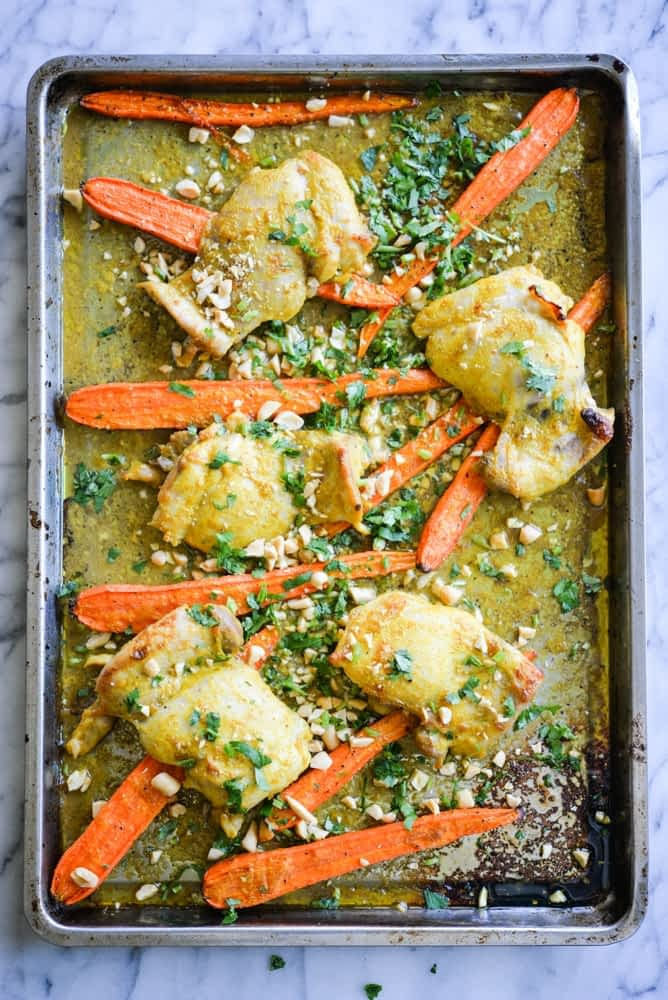 Curried Chicken Sheet Pan Dinner Fed and Fit