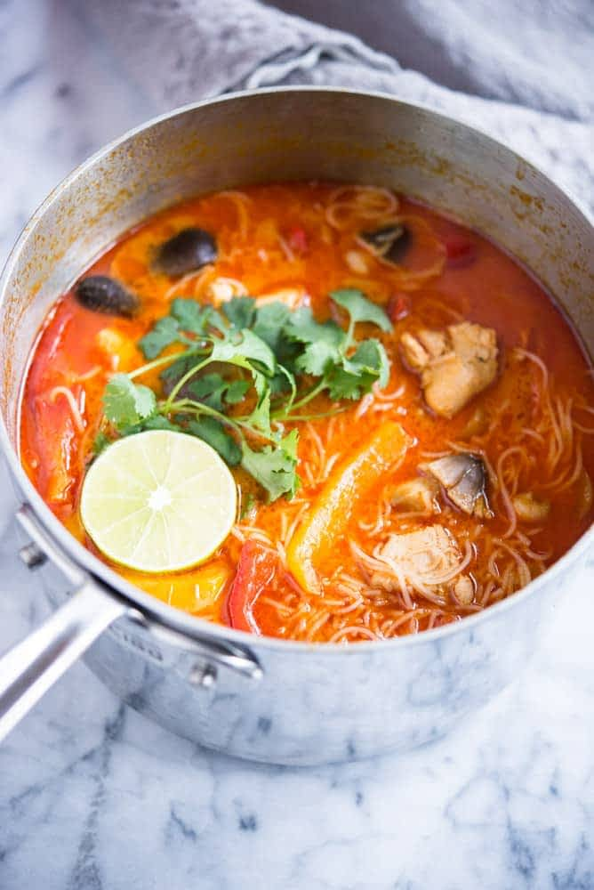 Thai curry chicken soup