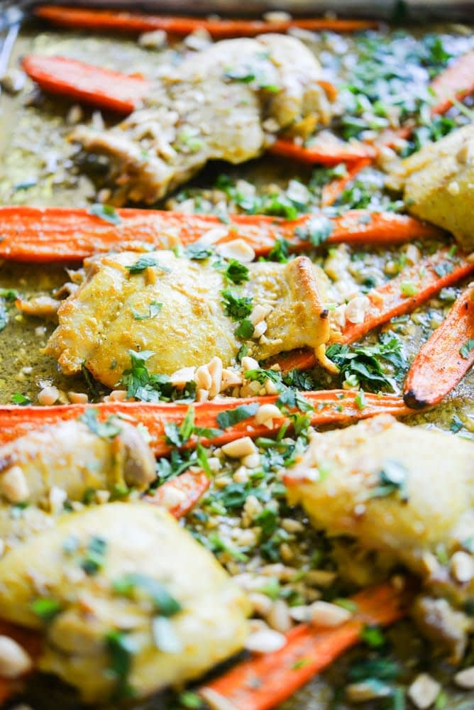 Curried Chicken Sheet Pan Dinner Fed and Fit-3