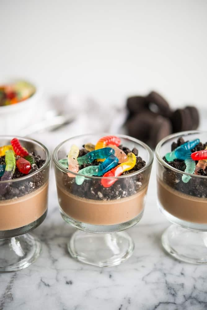 dairy-free dirt worm pudding