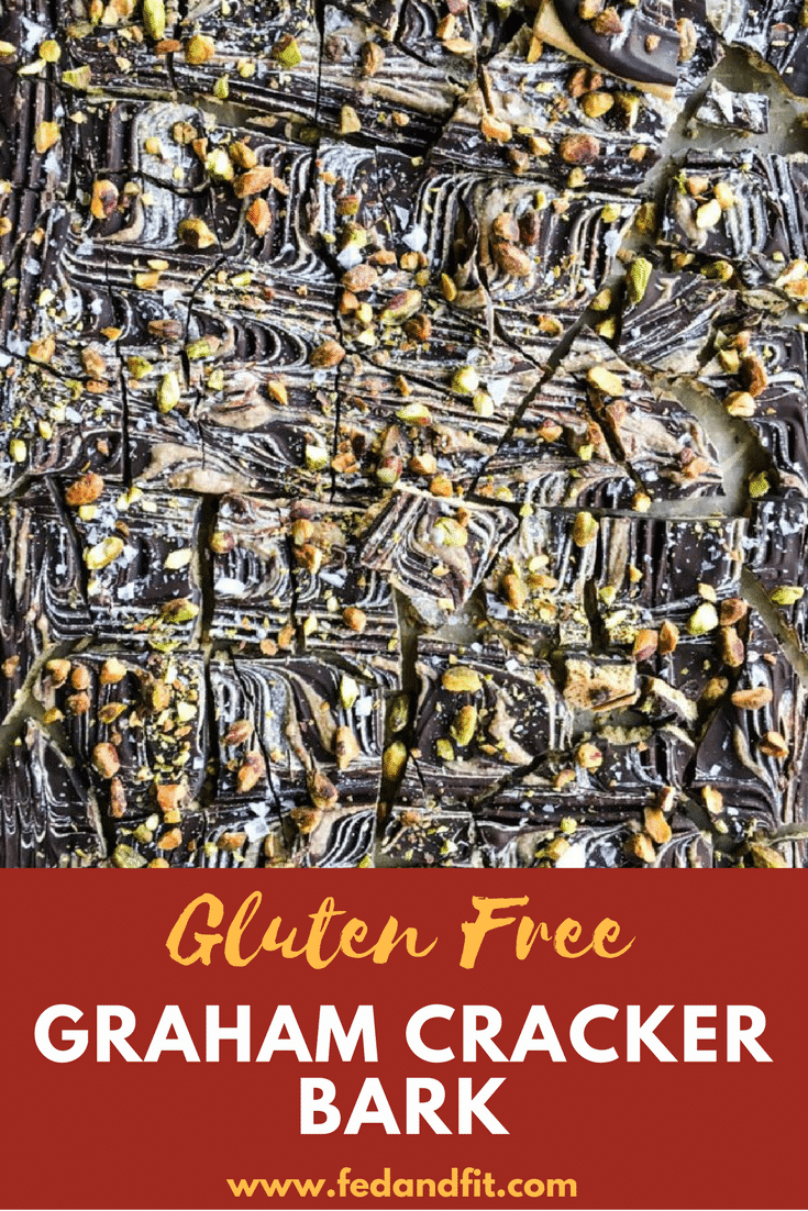 Looking for an easy gluten free treat to gift (or eat!) this season? This gluten free graham cracker bark combines graham crackers, dark chocolate, and almond butter for an easy but delectable dessert!