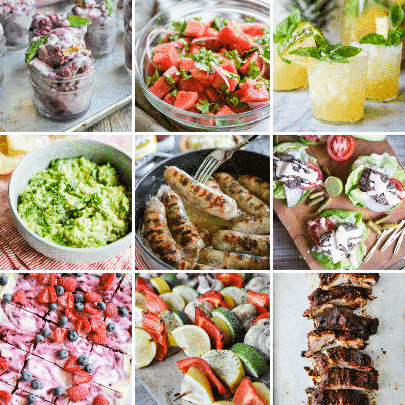 Paleo Summer BBQ Recipe Round Up grid