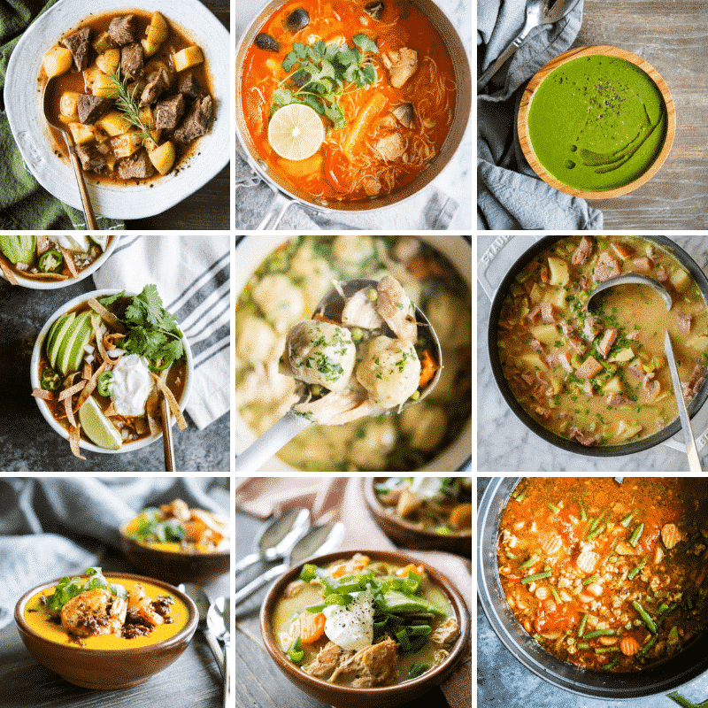 healthy soup roundup image grid