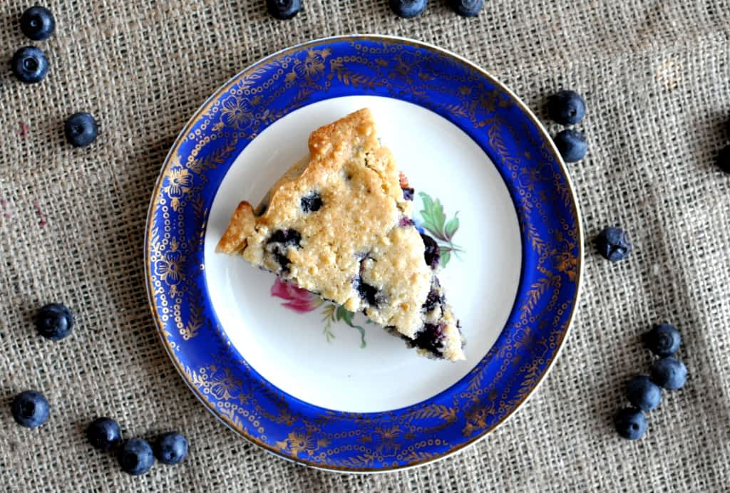 Paleo blueberry scone on a plate