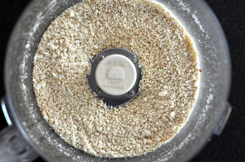 Cashew Flour in a Food Processor for Paleo Blueberry Scones