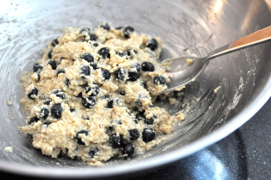 Batter for Paleo Blueberry Scones